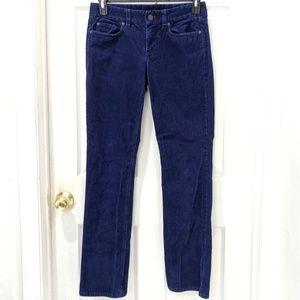 J. Crew Favorite Fit Blue Corduroy Jeans